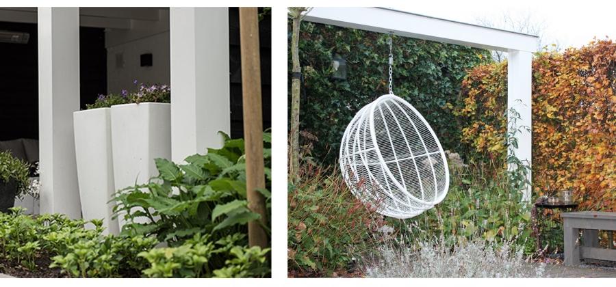 tuinontwerp voor stadstuin met veranda