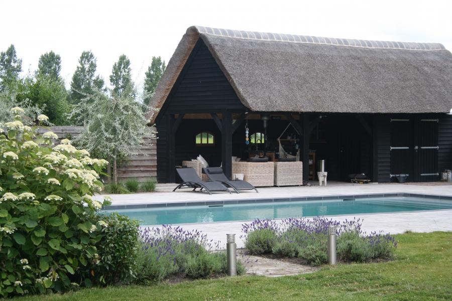 gerealiseerd tuin ontwerp met zwembad