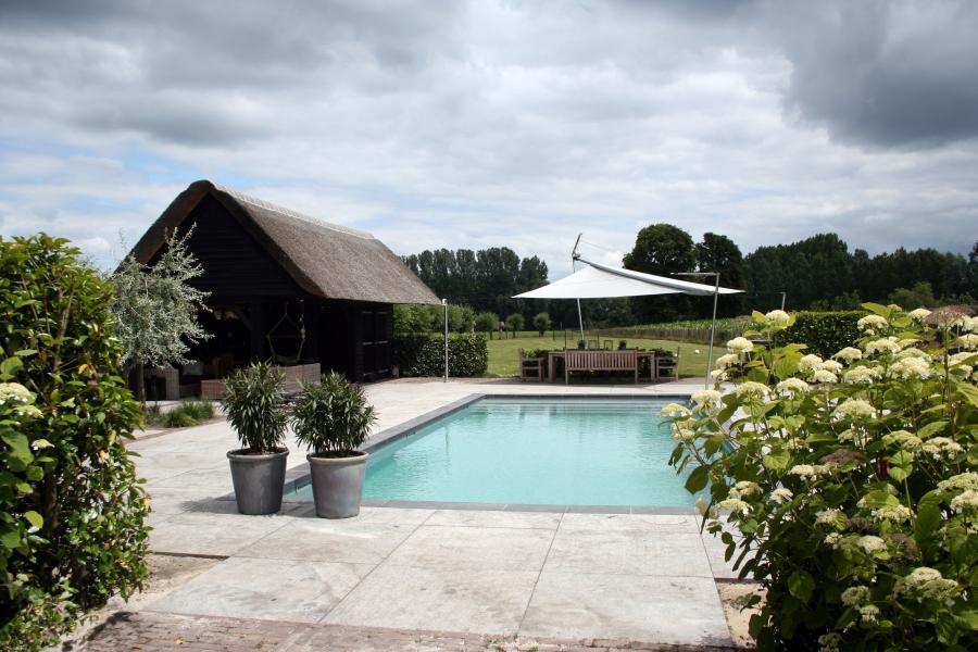ontwerp landelijke tuin met zwembad