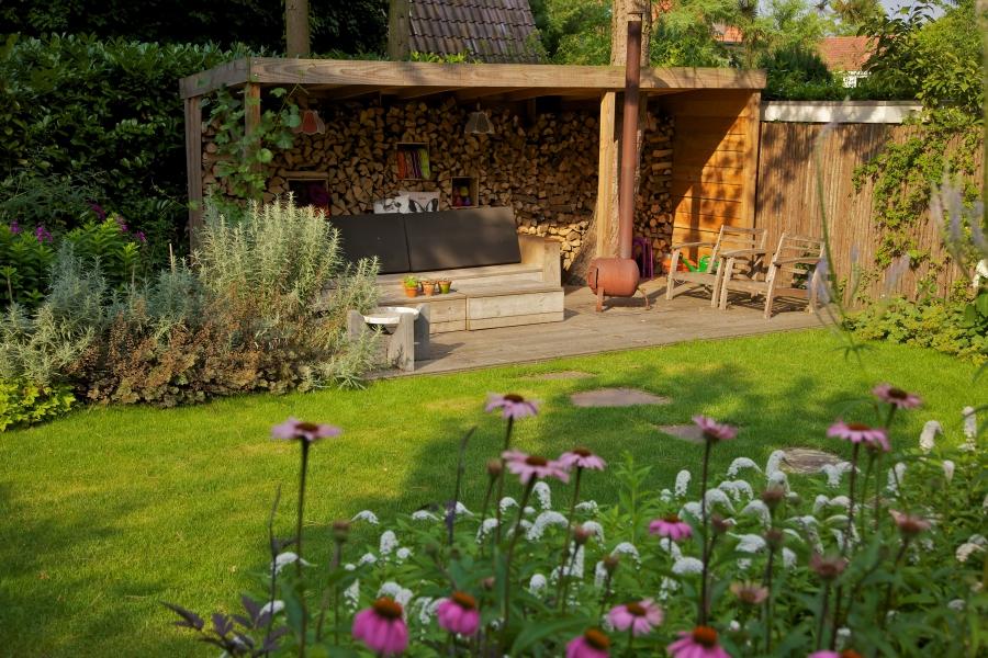 tuinontwerp met veranda