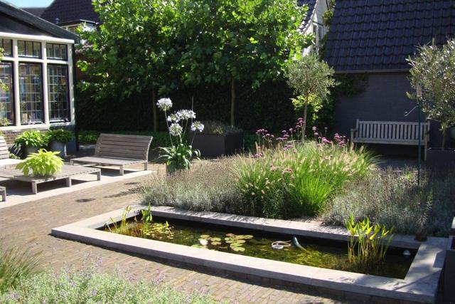 tuinontwerp met vijver