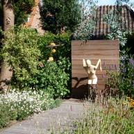 tuinontwerp met blikvanger